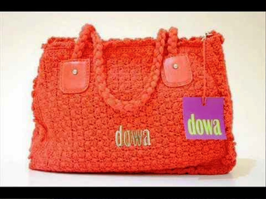Tas Rajut Dowa Warna Orange