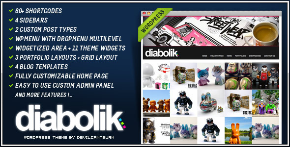 Diabolik - Premium Wordpress Theme Free Download by ThemeForest.