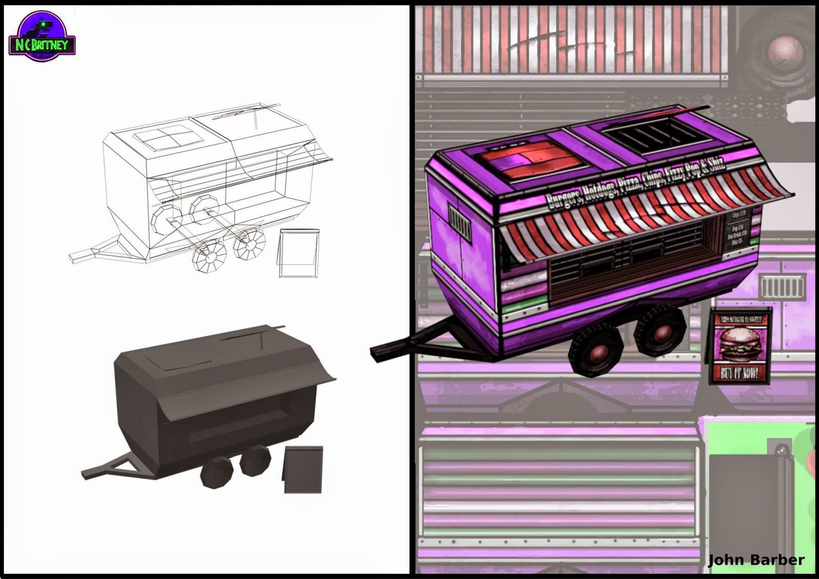 3d Burger Van