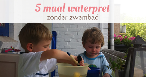 waterpret kinderen zonder zwembad