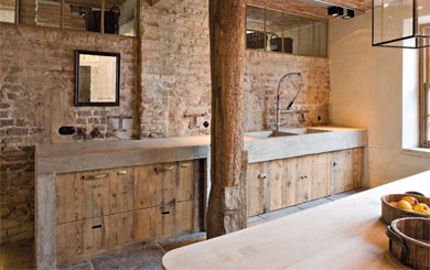 #11 - Restored farmhouse by Architect Bernard de Clerck, image via Corvelyn as seen on linenandlavender.net, http://www.linenandlavender.net/2013/02/bernard-de-clerck-architect-be.html