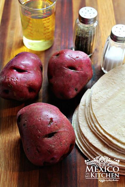 Tacos de papa - Potato Tacos