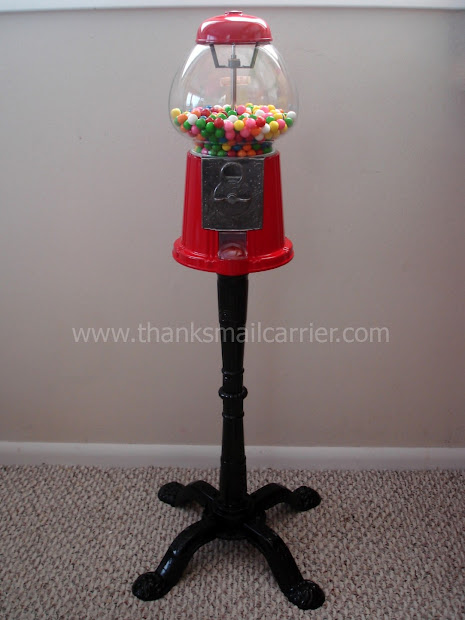 Mail Carrier Holiday Guide King Carousel Gumball Machine With Stand