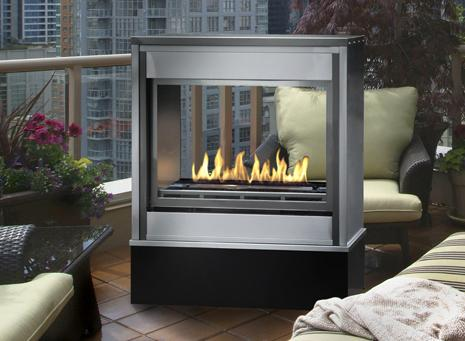 Linear Ventless Outdoor Gas Fireplace | Modern and Antique ...