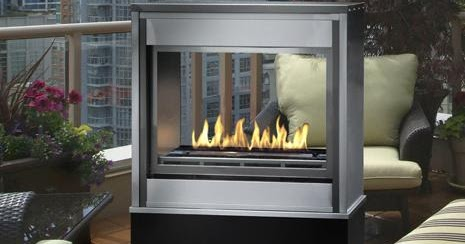 Linear Ventless Outdoor Gas Fireplace Modern And Antique