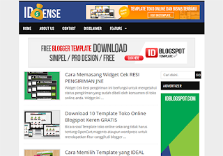 idSENSE Blogger Template