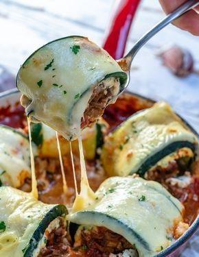 Mushroom Zucchini Lasagna Rolls
