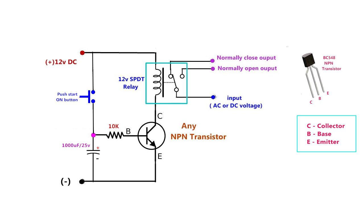 Power Gen Circuit Diagram List Part 2 Transistor Switch 12v Relay Off Time Delay Timer By Using Npn And Capacitor