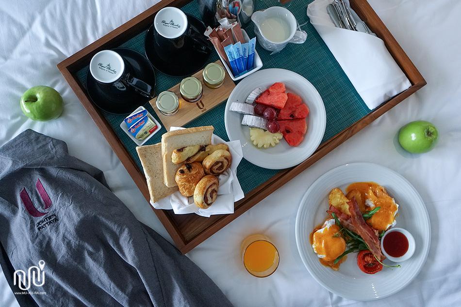 อาหารเช้าที่ U Jomtien Pattaya