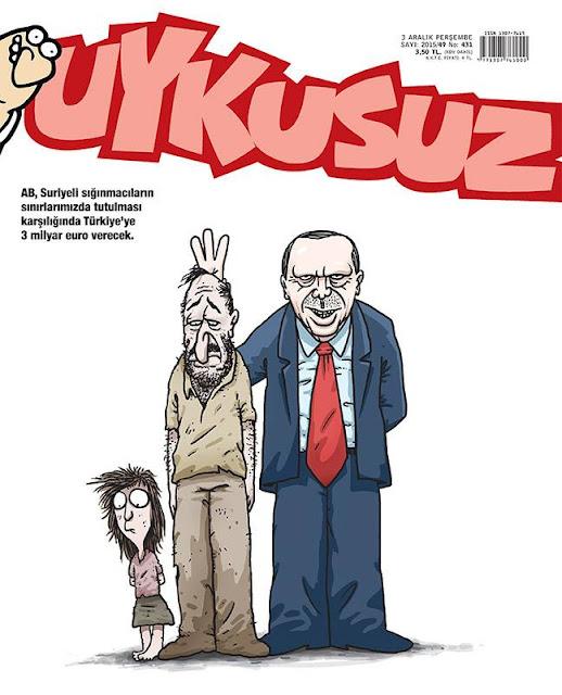 Uykusuz Dergisi - 3 Aralık 2015 Kapak Karikatürü