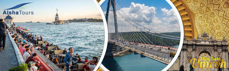 Paket Umroh Plus Turki Alsha Tour Sultan Ahmed Bosphorus Bridge