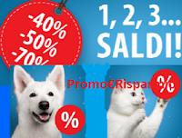 Logo ''Saldi invernali 2019'' per i nostri amici animali: sconti fino al 70%