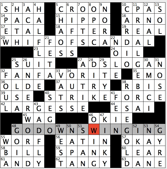 Rex Parker Does the NYT Crossword Puzzle: June 2017