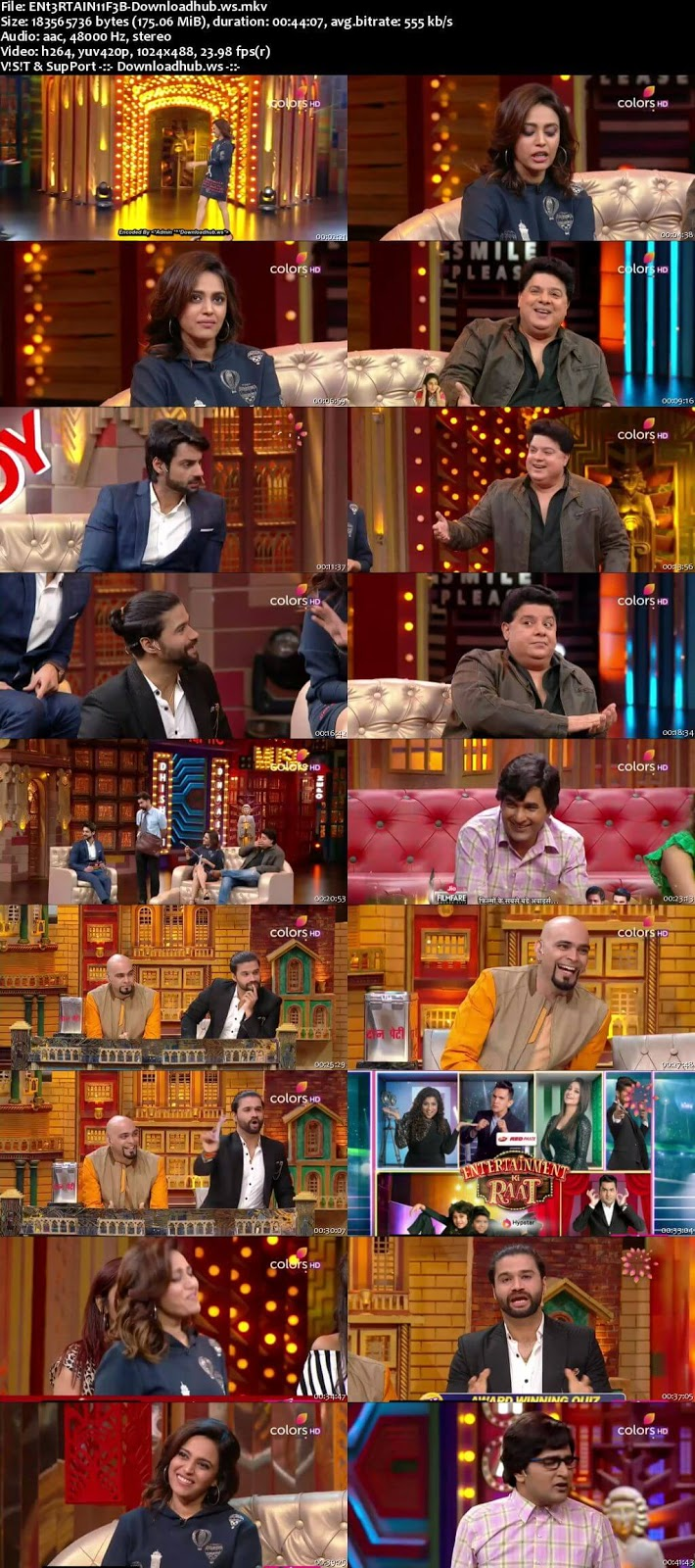 Entertainment Ki Raat 11 February 2018 Episode 25 HDTV 480p