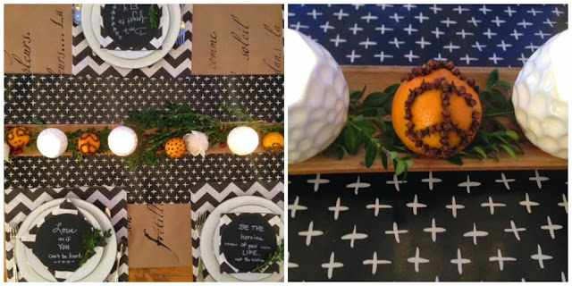 thanksgiving-table-decor-tablescape-black-white-hellolovely-hello-lovely-studio-quotes-plates-oranges