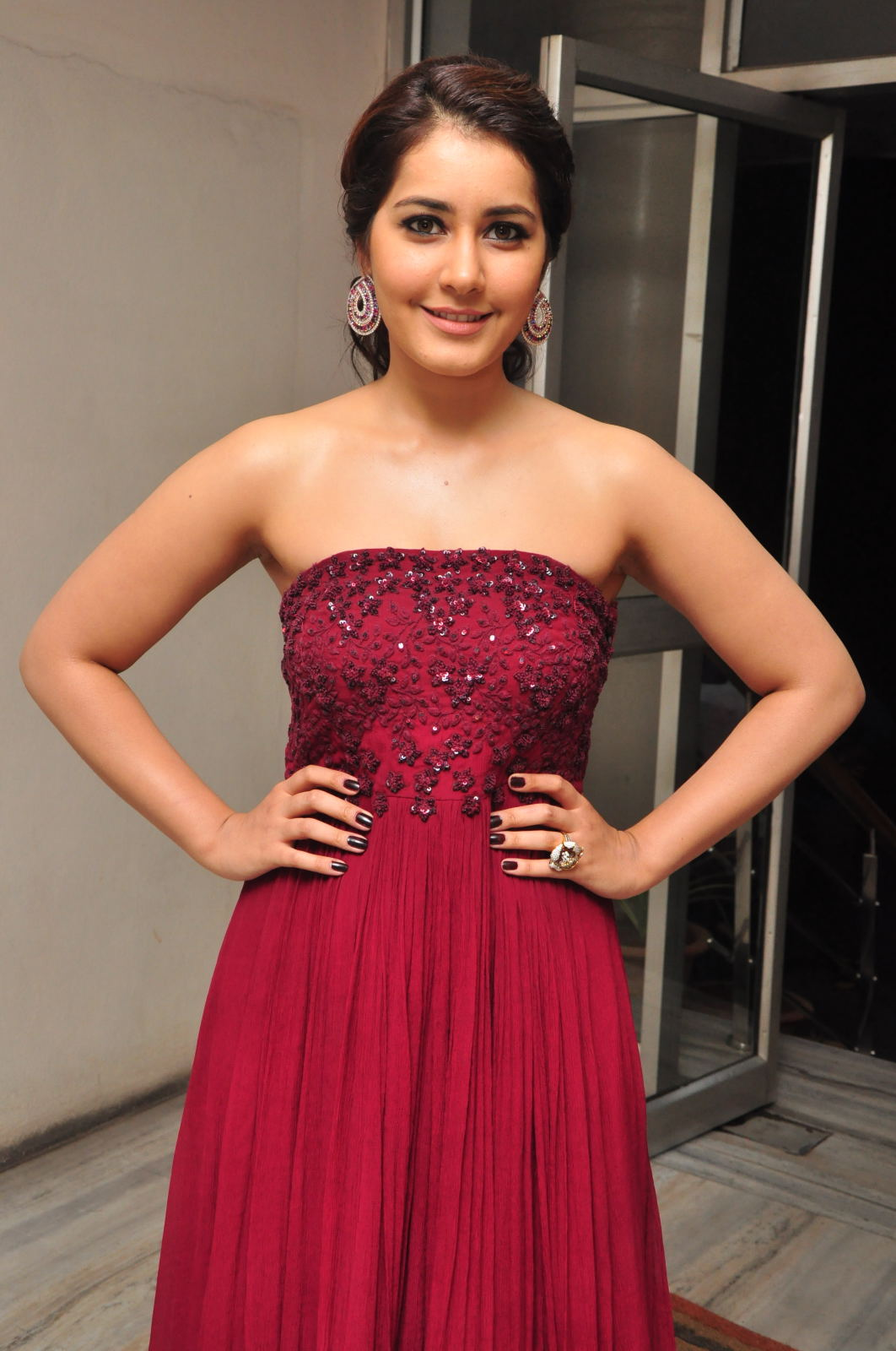Rashi Khanna Photos At Movie Success Meet Function
