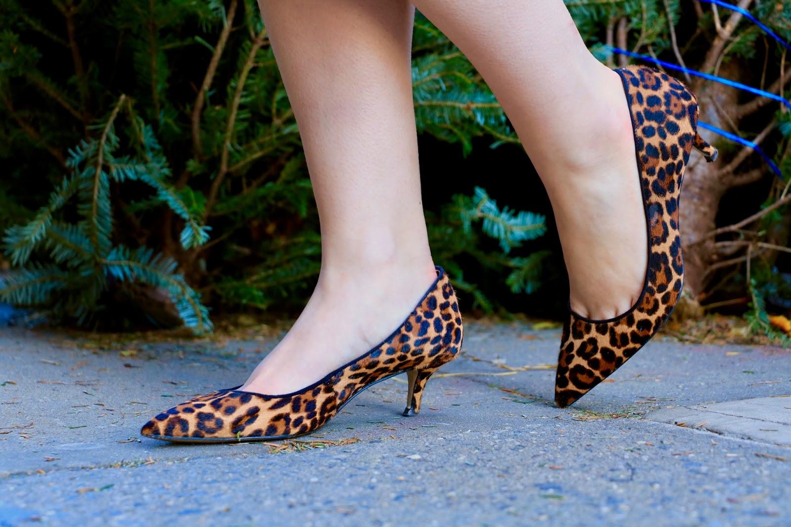 ann taylor leopard pumps