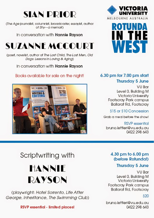 It's all about the writing: Sian Prior and Suzanne McCourt with Hannie Rayson: Rotunda in the West