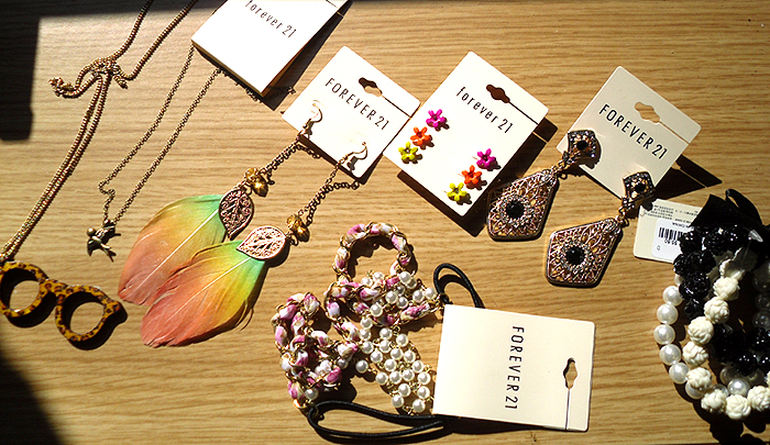 Spring jewelry haul from Forever21