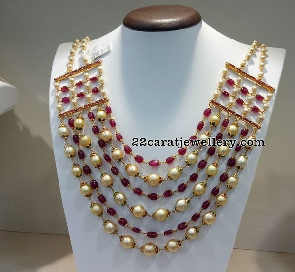 Six Layers Pearls Beads Necklace