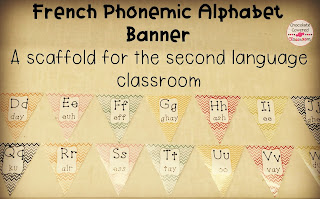 French Phonemic Alphabet - French (FSL) bulletin board sets- perfect for practicing and reinforcing oral language in the upper elementary classroom