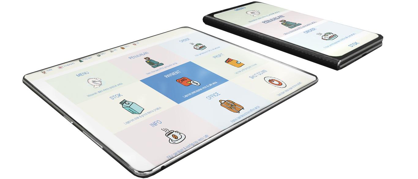 Restoran cafe online system mobile