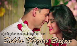 Dekha Hazaaro Dafa Sargam Piano Notes Full | Rustom