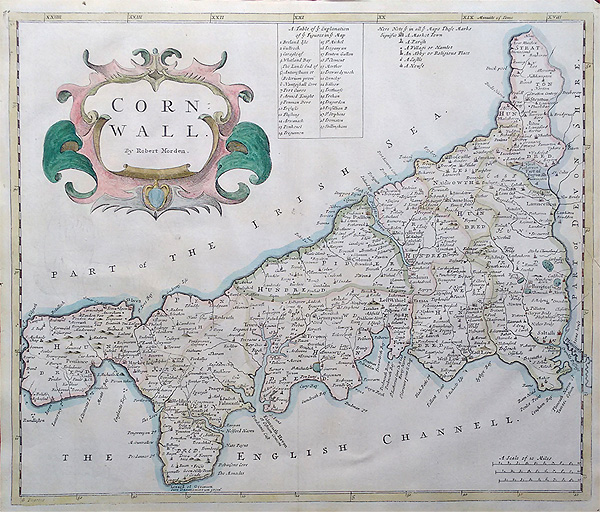 Antique Maps Th Century Antique Map Of Cornwall By Morden - Where to buy antique maps