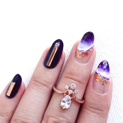 Alluring Amethyst Nail Art