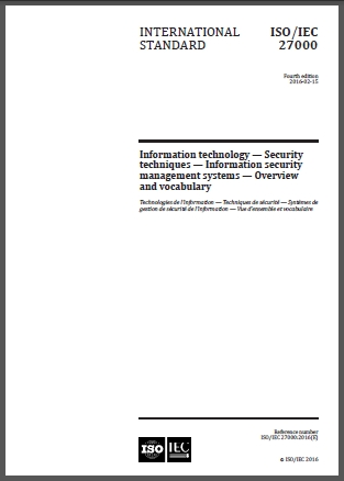 Title page of ISO/IEC 27000:2016