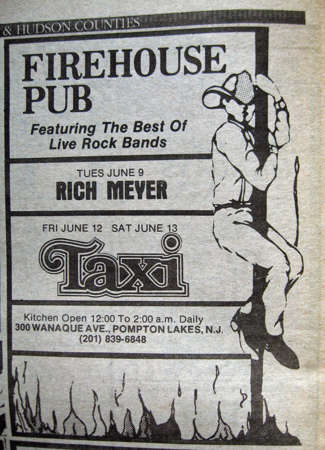 Firehouse Pub band line up 1981