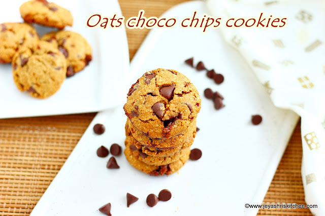Oats choco chip cookies