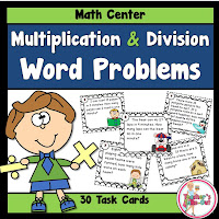 Word Problem Task Cards using Multiplication and Division Facts