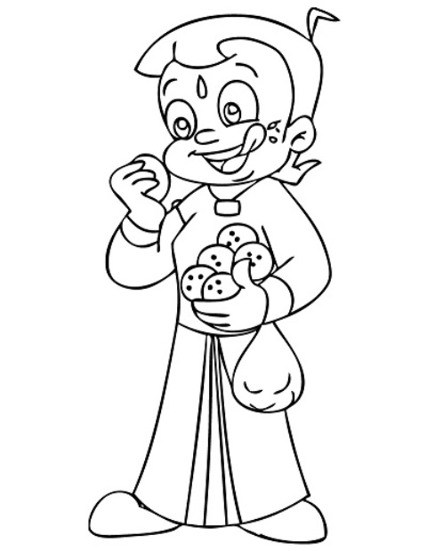 chhota bheem coloring pages - photo#7