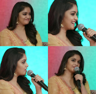 Keerthy Suresh at FB Live Streaming 3