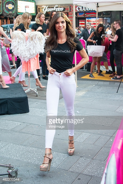 Model Sara Sampaio attend the Body By Victoria's Secret Campaign Launch at Military Island, Times