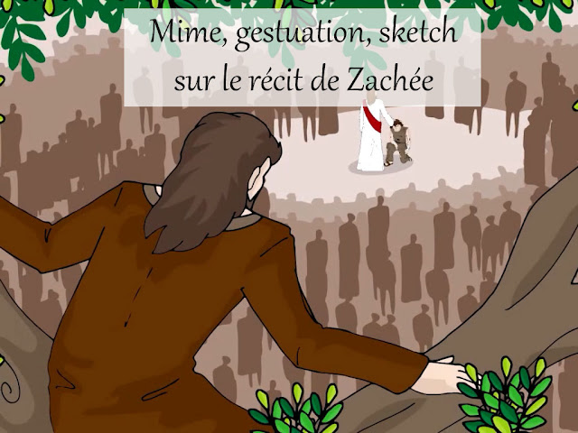 Mime, gestuation, sketch sur Zachée