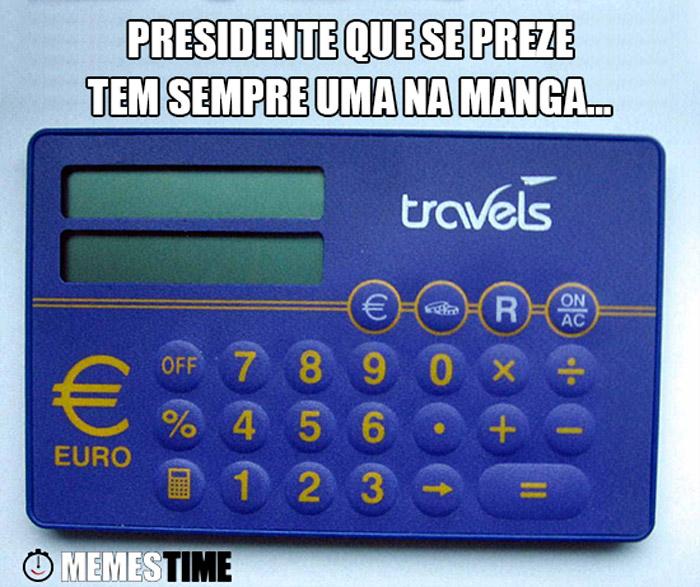 Meme Bruno de Carvalho & Euro calculadora  – Presidente que se preze tem sempre uma na manga…