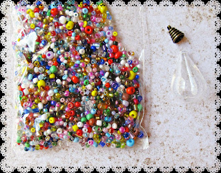 image diy miniature christmas bauble ornament tutorial beaded