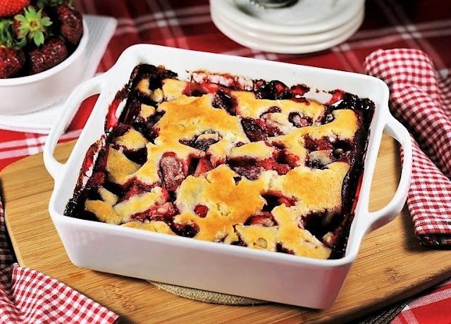 Baked Strawberry Cobbler Image