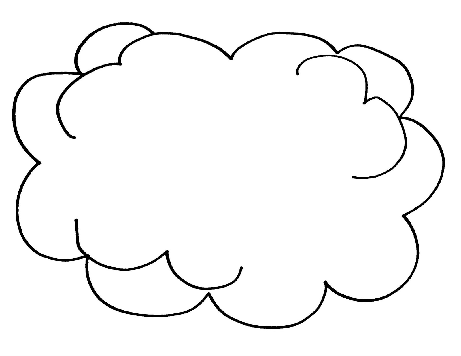 Rainbow Cloud Coloring Page Cartoon Clipart Of A Black And Clipart