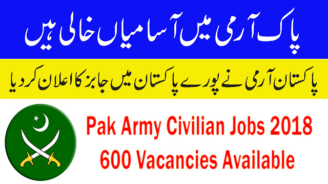 Image result for Pak Army Civilian Jobs 2018