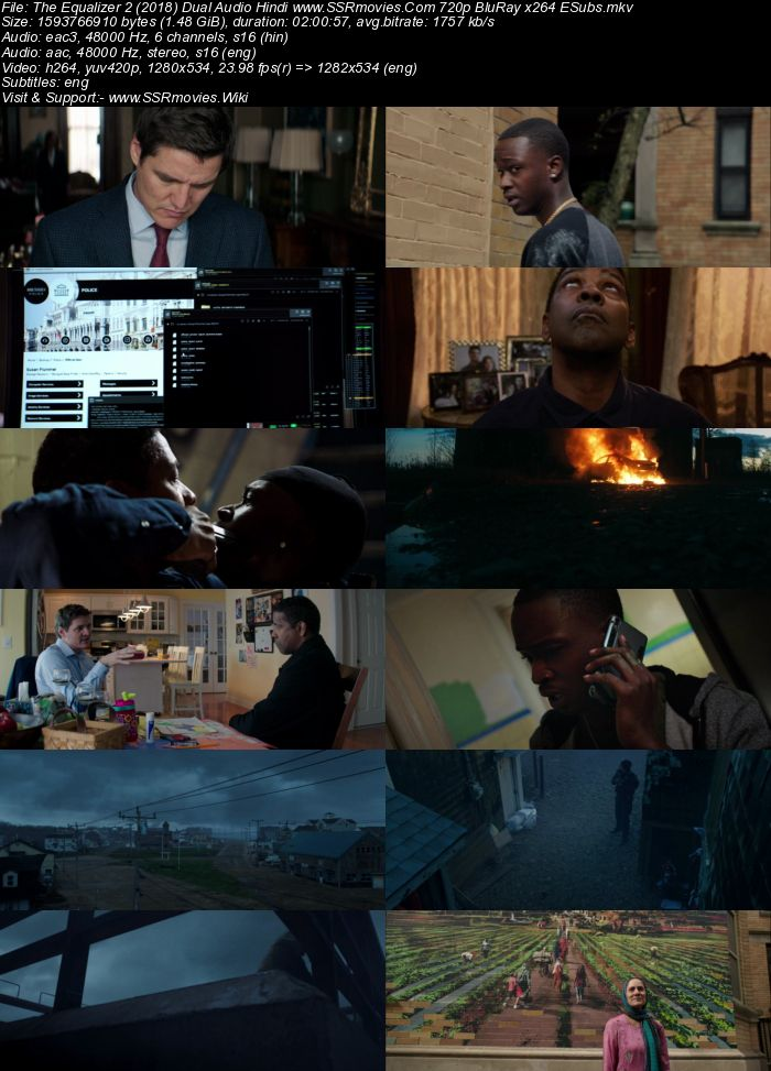 The Equalizer 2 (2018) Dual Audio Hindi ORG 480p BluRay 400MB Movie Download