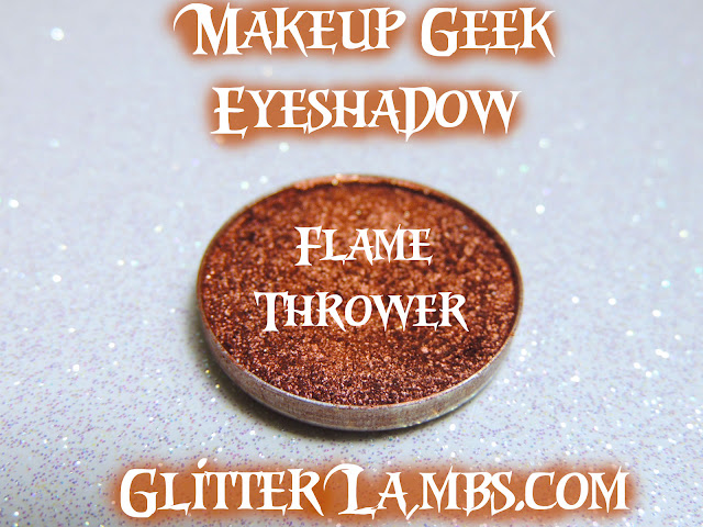 Makeup Geek Eyeshadow review swatches by GlitterLambs.com Sugar Rush, Pegasus, Starry Eyed, Flame Thrower