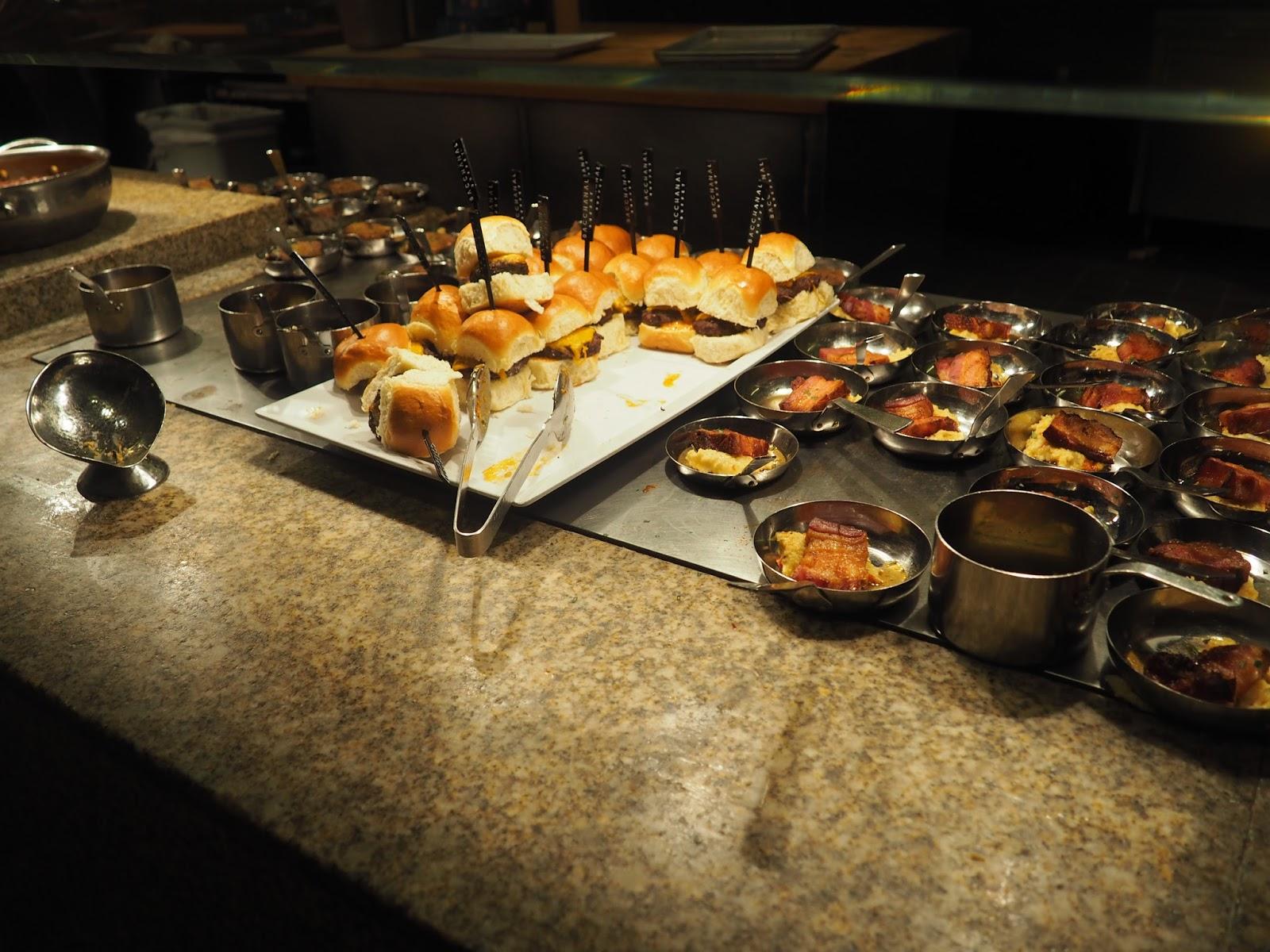 Burgers at Baachanal Buffet at Caesar's Palace, Las Vegas