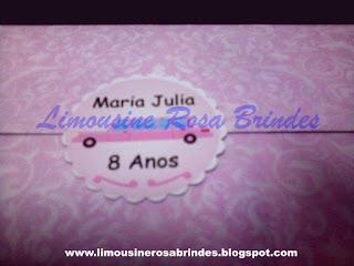 Convite Limousine Rosa, limousine rosa, tema limousine rosa, lembrancinha limousine rosa, festa limousine rosa, brinde limousine rosa