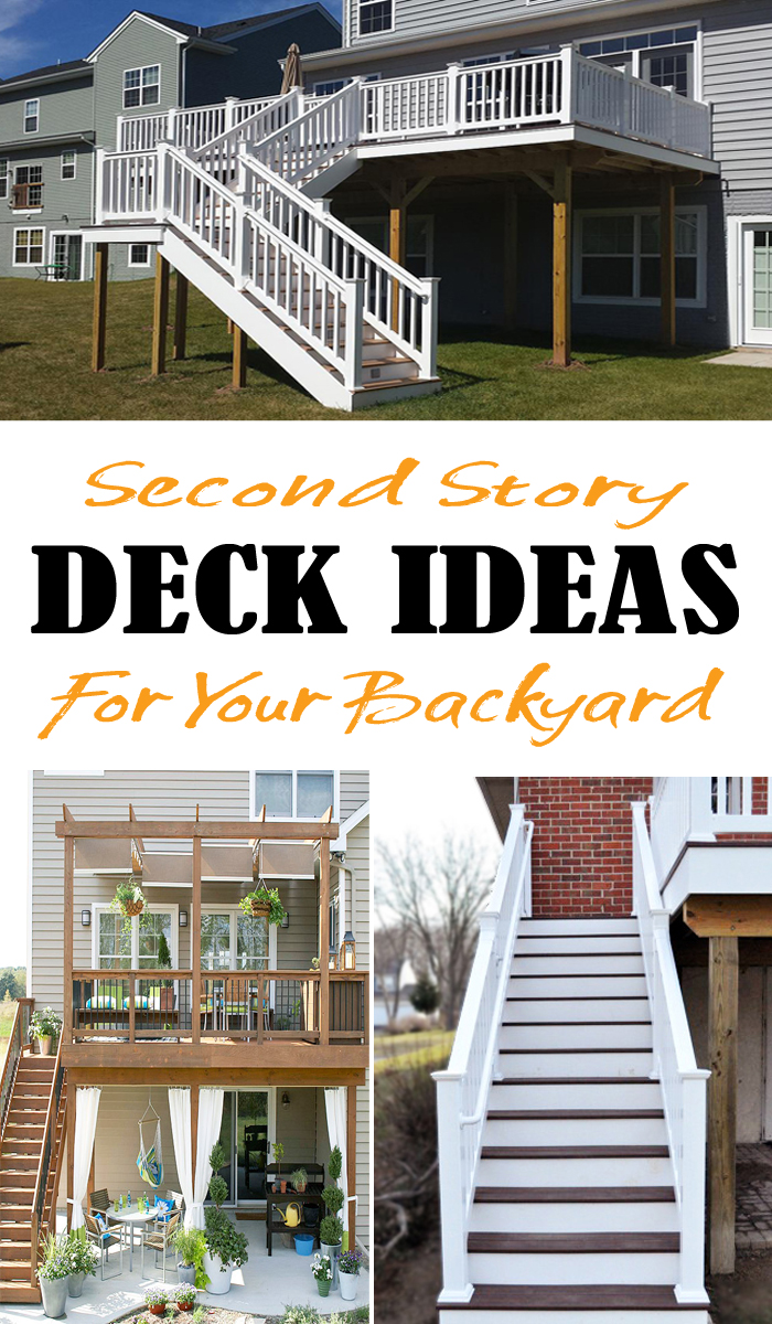 high deck ideas with staircase and pergola