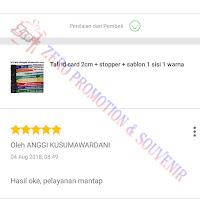 Testimoni Pembelian Tali id card 2cm + stopper