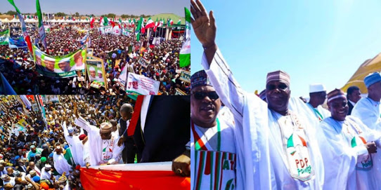 See How Crowd Gathered To Support Atiku Campaign In Sokoto..Promises To End Hunger.