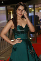 Raashi Khanna in Dark Green Sleeveless Strapless Deep neck Gown at 64th Jio Filmfare Awards South ~  Exclusive 069.JPG